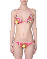 Moschino - Bikini Slip With Smiley Print - Lyst