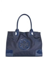 Tory Burch - Ella Mini Shopping Bag With Patent Leather Logo - Lyst