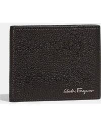 Ferragamo - Tumbled Calfskin Bifold Wallet - Lyst