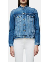 2dc45fabe61299 FRAME - Le Fray Denim Jacket - Lyst