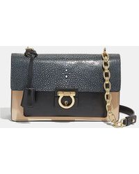 101597e013f1 Ferragamo - Medium Stingray And Calfskin Aileen Shoulder Bag - Lyst
