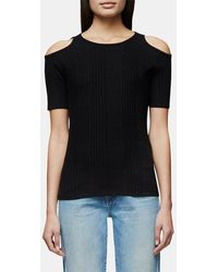 FRAME - Variegated Cutout Tee - Lyst
