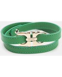 Ferragamo - Leather Wrap Bracelet - Lyst
