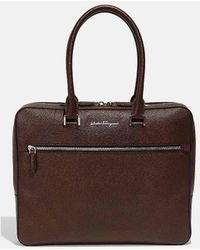 Ferragamo - Evolution Nappa Leather Briefcase - Lyst
