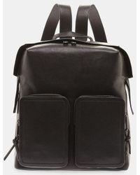 Jimmy Choo - Lennox Zipped Shoulder Strap Leather Backpack - Lyst