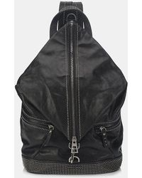 Jimmy Choo - Fitzroy Satin Leather Studded Backpack - Lyst