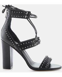 Kendall + Kylie - Dawn Nappa Leather Studded Block-heel Sandal - Lyst
