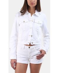 J Brand - Harlow Denim Jacket In Fallen Destruct - Lyst
