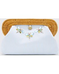 Eloquii - Draper James For Embellished Wicker Clutch - Lyst