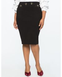 Eloquii - Pencil Skirt With Scallop Detailing - Lyst