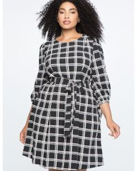 Eloquii - Tied Puff Sleeve Fit & Flare Dress - Lyst
