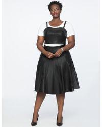 97cbb05766a Lyst - Eloquii X Katie Sturino Mini Skater Skirt in Black