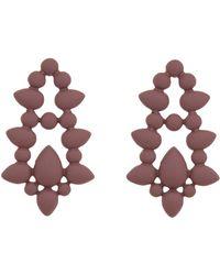 Eloquii - Teardrop Statement Stud Earrings - Lyst