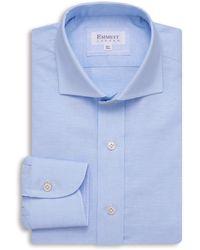 Emmett London - Lightweight Blue Open Shirt - Lyst