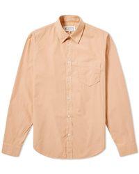 Maison Margiela | 10 Long Sleeve Poplin Shirt | Lyst