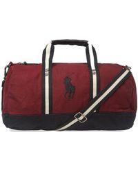 0ec6cbc137da Polo Ralph Lauren - Canvas Polo Player Logo Duffle Bag - Lyst