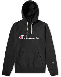 Champion - Logo Print Hoodie - Lyst