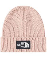 The North Face - Logo Box Cuffed Beanie - Lyst
