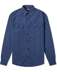 RRL Gi Military Shirt - Blue