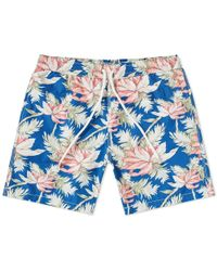 Hartford - Floral Swim Short - Lyst