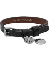 Alexander McQueen - Stud Single Wrap Skull Bracelet - Lyst
