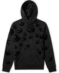 McQ - Large Swallow Flocked Popover Hoody - Lyst