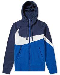 9b0cf2bf5f16 Lyst - Nike Club Swoosh Pullover Hoodie in Pink for Men