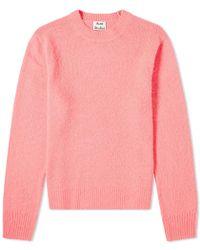Acne Studios Peele Cashmere Crew Knit - Pink