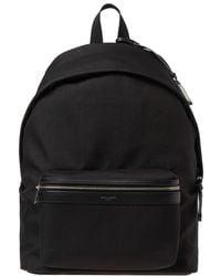 Saint Laurent - Canvas City Backpack - Lyst