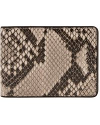 Dries Van Noten - Billfold Snakeskin Wallet - Lyst