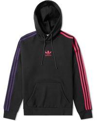 adidas - Sportive 3 Stripe Hoody - Lyst