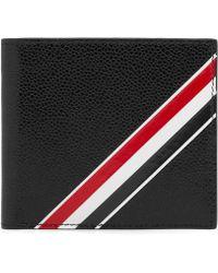 Thom Browne - Diagonal Stripe Billfold Wallet - Lyst