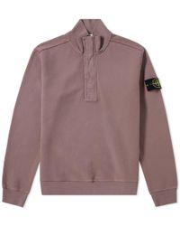 Stone Island - Garment Dyed Half Zip Sweat - Lyst