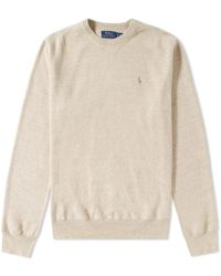 Polo Ralph Lauren - Knitted Sports Crew Neck Sweat - Lyst