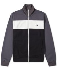 Fred Perry Authentic - Colour Block Track Jacket - Lyst