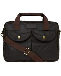 Barbour - Wax Longthorpe Laptop Bag - Lyst