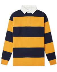 Beams Plus - Knitted Stripe Rugby Shirt - Lyst