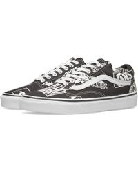 43390d64b1 Lyst - Vans Logo Mix Old Skool Shoes in Black for Men
