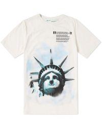 Off-White c/o Virgil Abloh - Liberty Print Cotton T Shirt - Lyst