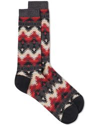 Anonymous Ism - Wigwam Jacquard Crew Sock - Lyst
