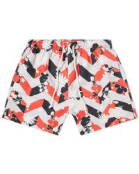 Maison Kitsuné - Maison Kitsuné All-over Venice Swim Short - Lyst