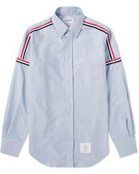 Thom Browne - Grosgrain Shoulder Stripe Oxford Shirt - Lyst