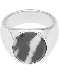 Tom Wood - Oval Zebra Marble Ring - Lyst
