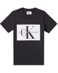Calvin Klein - Monogram Box Logo Slim Tee - Lyst