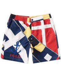 Polo Ralph Lauren - Cp93 Sailing Flag Print Swim Short - Lyst