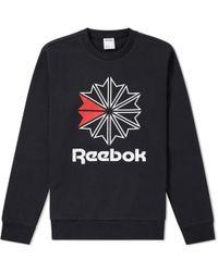 Reebok - Big Starcrest Crew Sweat - Lyst