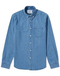 Portuguese Flannel - Ganga Button Down Denim Shirt - Lyst