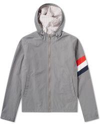 Thom Browne - Arm Stripe Hooded Jacket - Lyst