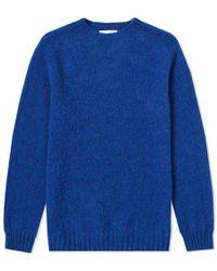 Officine Generale - Shetland Wool Crew Knit - Lyst