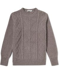 Inis Meáin - Inis Meáin Fern Cable Crew Neck Sweat - Lyst